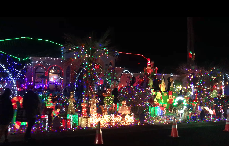 Neighborhood Christmas lights