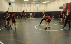 Perry Wrestlers practice for a postponed season on Thursday Dec.10. COVID numbers have remained in the