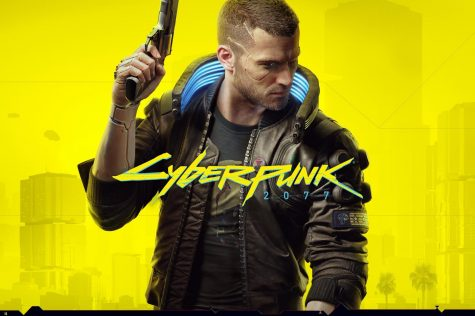 Main cover art for Cyberpunk 2077.