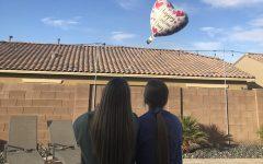Juniors Leah Davis and Dani Lavender celebrate Valentine's Day as friends.