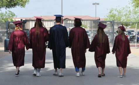 Class of 2021 walking out of the gates of Perry High school.