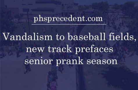 Security cameras caught ten students breaking into campus and vandalizing the new track and baseball fields on Apr.  10. Vandalism to the campus is common during the end of fourth quarter when senior pranks are being planned and carried out.
