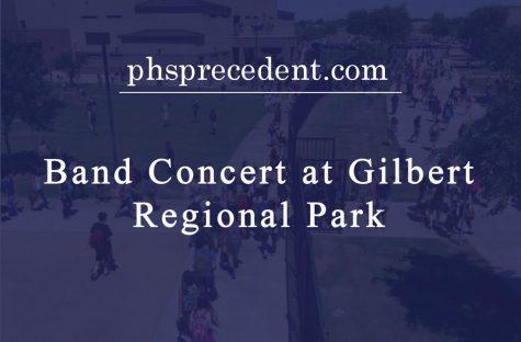 Band holds a concert at Gilbert Reginal park.