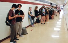 Freshman waiting to take their AP World History exam. For many, this is the first AP test they will ever take.
