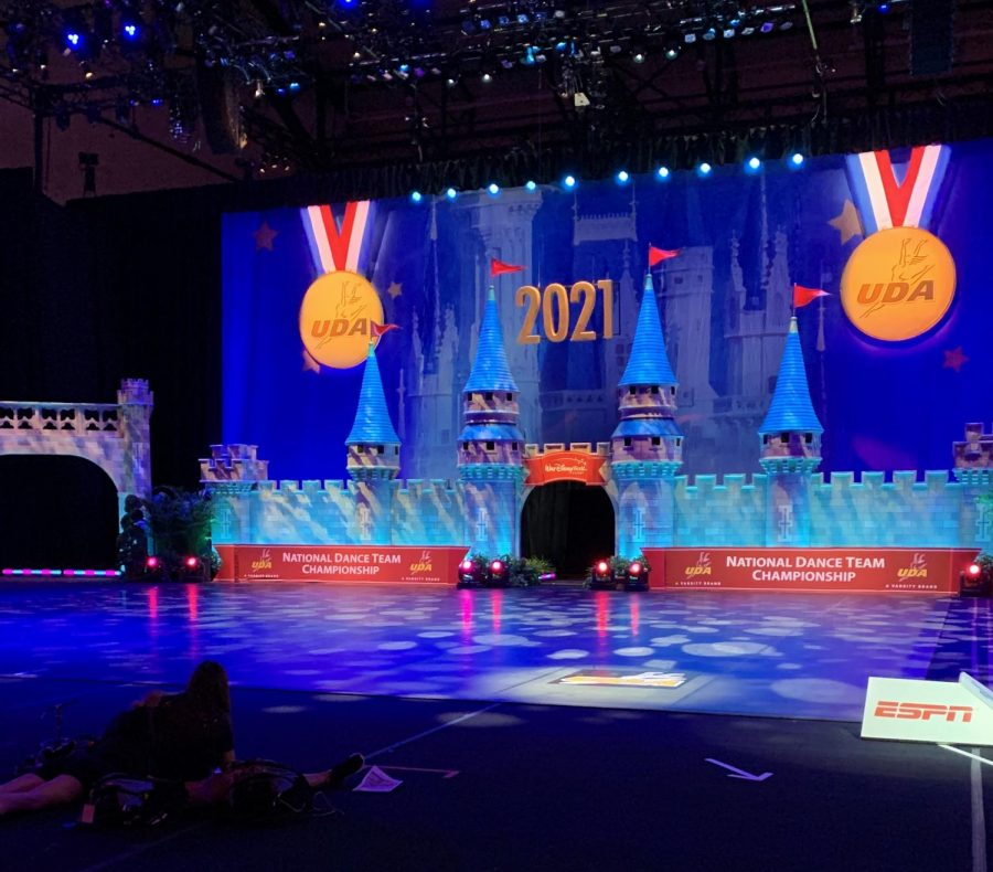 Pom and cheer competed on the stage pictured above at the ESPN Wide World of Sports Complex. Pom competed the 22nd and 23rd, cheer competed the 23rd and 24th.