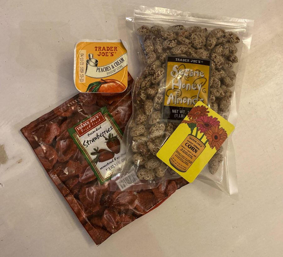 These are just a few of the great snacks offered at Trader Joes.