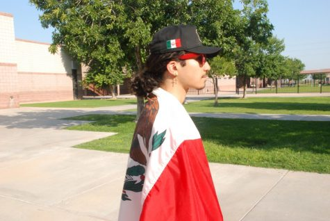 Nico Campbell showing is appreciation of his culture. Being the president of the Latin Culture Club Campbell supports all of those of Latin decent and makes them feel comfortable at school.