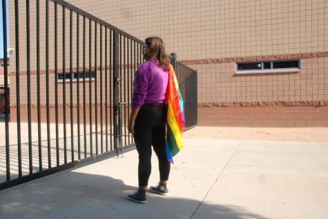 LGBTQ member, senior Clare Hale, stands prideful of her identity. Throughout her high school years, she has explored and become comfortable in who she is.